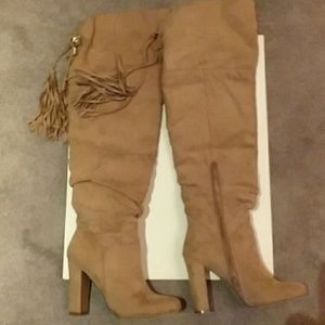 SHOEDAZZLE SUADE  ABOVE KNEE BOOT